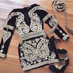 For love and lemons Paris ornate velvet dress